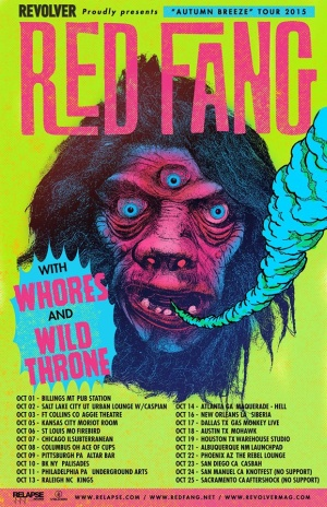 Red Fang To Tour United States In October July 23rd 2015