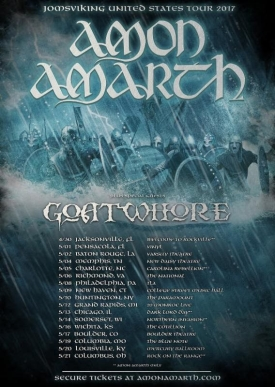 Amon Amarth Tour United States In May 2017 With Support