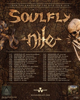 SOULFLY And NILE Co-Headline From The Amazon To The Nile