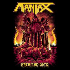maniax open the gate ep 2018 album ep reviews metal forces